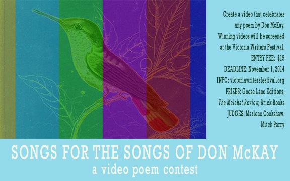 Don McKay Video Poem Contest flyer