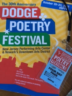 Dodge Poetry Festival catalog and 4-day pass