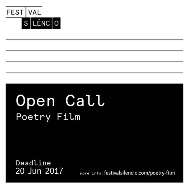 Festival Silencio 2017 open call poster