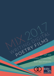 MIX 2017 poetry films programme cover