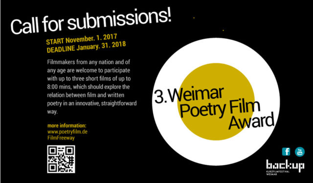 Weimar Poetry Film Award Flyer 2018
