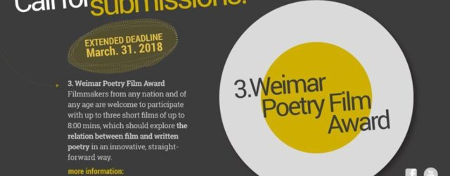 Weimar Poetry Film Award extension announcement