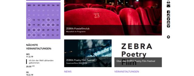 Haus für Poesie homepage