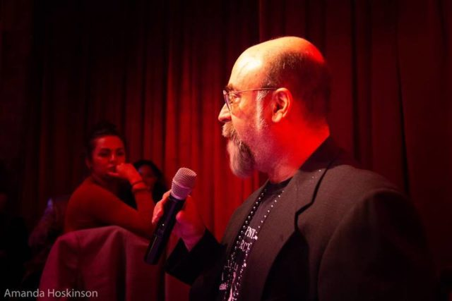 Marc Zegans at the Los Angeles Poetry Brothel (photo by Amanda Hoskinson)