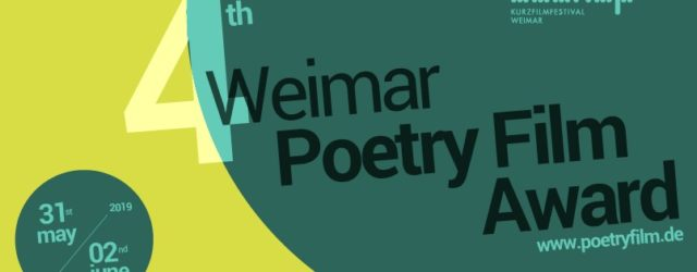 4th Weimar Poetryfilm Prize banner