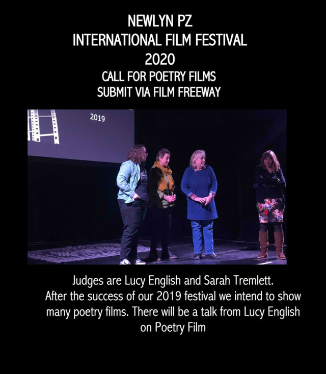 Call for poetry films: 2020 Newlyn PZ Festival – Moving