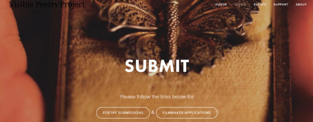 screenshot of Visible Poetry Project's submissions page