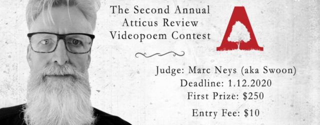 banner for the Second Annual Atticus Review Videopoem Contest