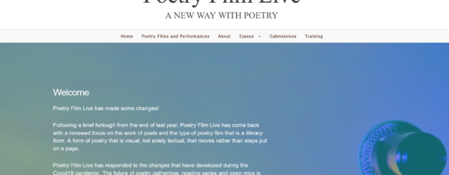 s reenshot of Poetry Film Live home page